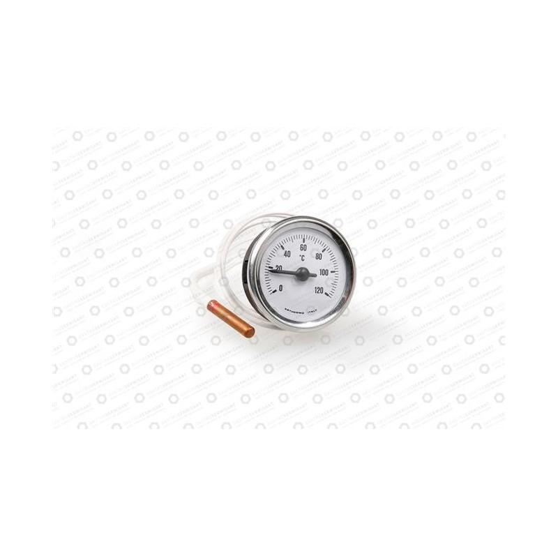 Termometr biały śr. 52 mm 0-120°C, dł. kapilary 1500 mm, czujka śr. 6x40 mm - Zmywarki Comenda