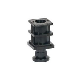 Stopka regulowana 40x40 czarna z tworzywa - patelnie elektryczne Kromet